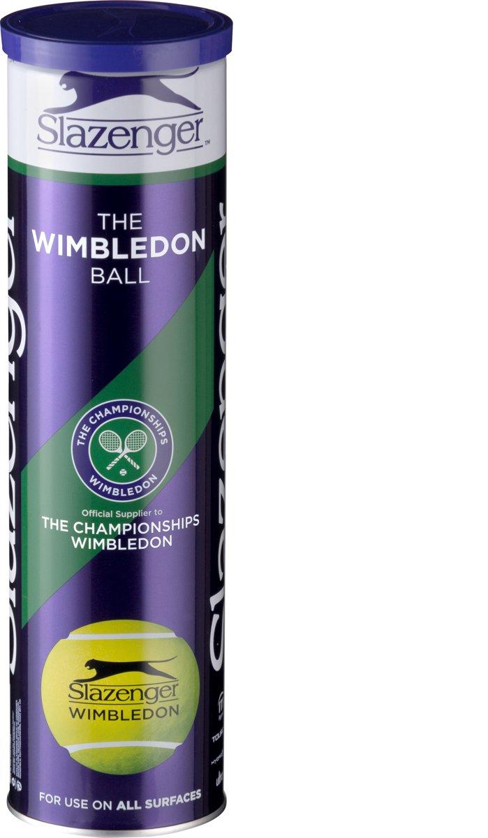Slazenger S Tb Wimbledon 4Tin Tennisballen - Yellow kopen