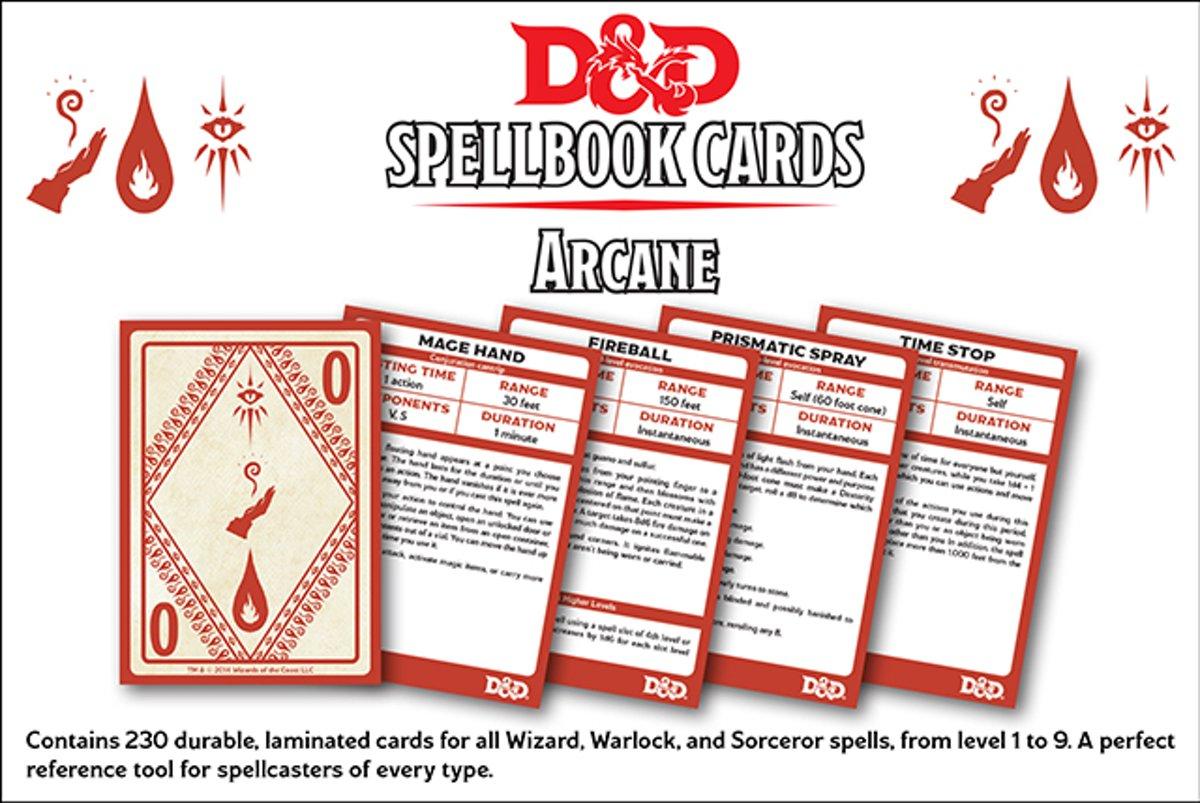 D&D Spellbook Cards - Arcane (253 cards)