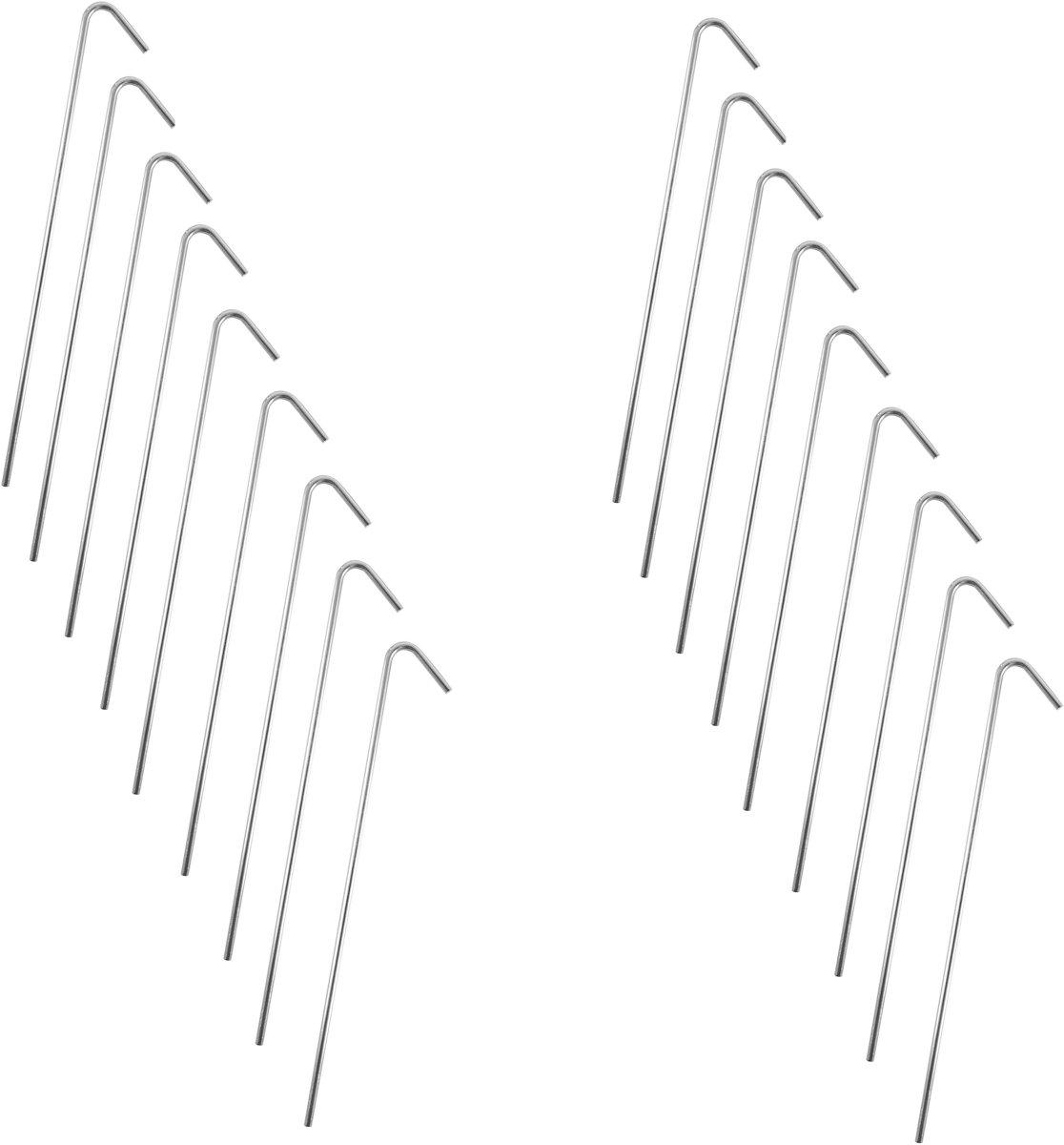 Stalen Tentharingen Set - 18 stuks - 23 cm | Staal | Opzetten Tent | Tentspijkers | Tentspijker | Haringen | Tentharing | Haring | Camping | Kamperen kopen