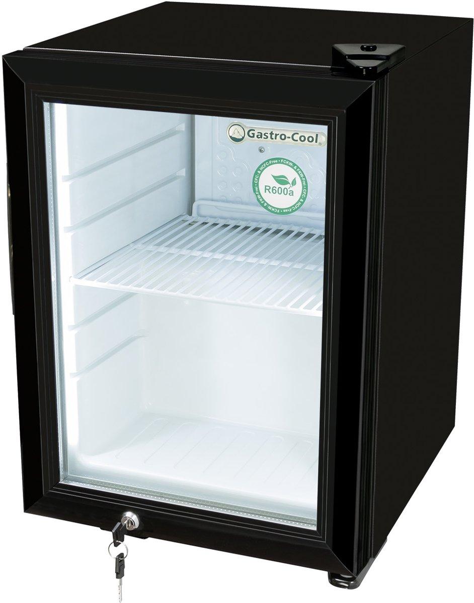 Gastro-Cool KW25 - Mini koelkast met glazen deur 23 Liter - Zwart/Zwart/Wit 247201 kopen