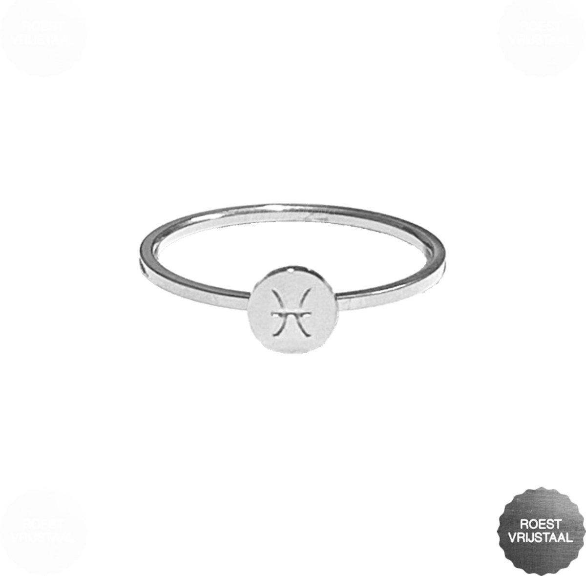 daytodaylooks - Zodiac ring - Pisces - Sterrenbeeld ring - Ringen met sterrenbeelden - Vissen - Zilverkleurig kopen