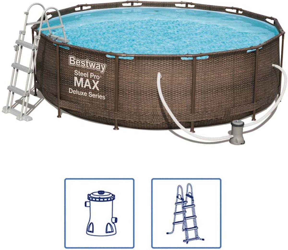 Bestway Steel Pro MAX zwembadset Deluxe Series rond 56709