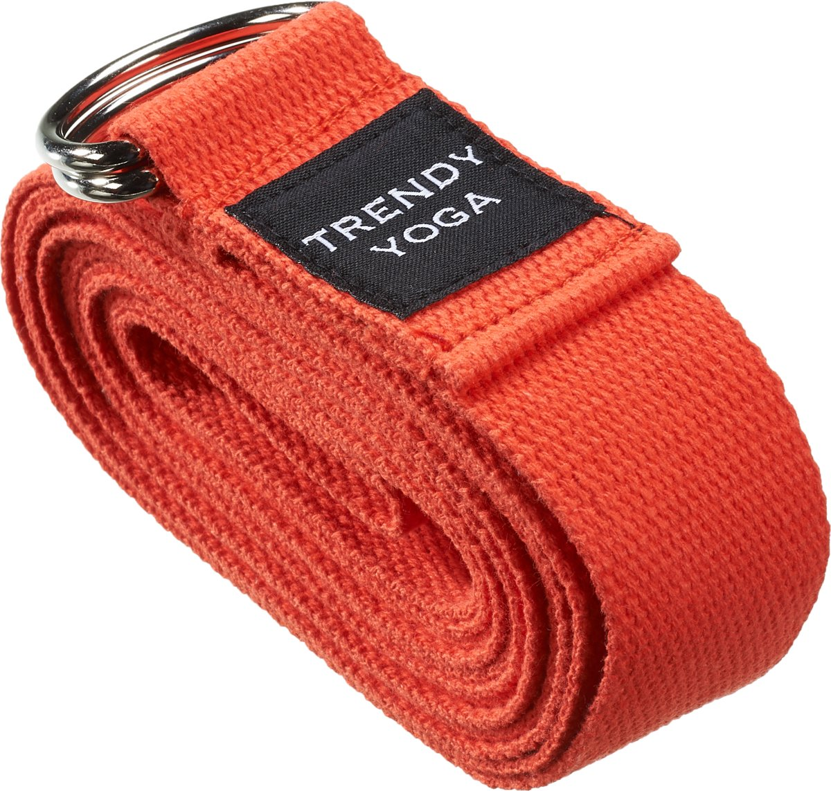 Trendy Sport Yoga riem - Yogariem - Yoga belt - 190 cm lang - 4 cm breed - 2 mm dik - Rood kopen