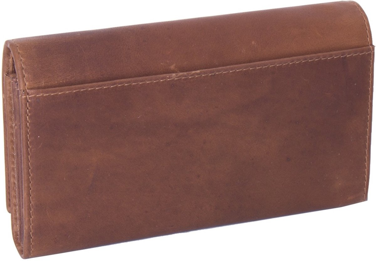 8eaf19afb32 bol.com | Chesterfield Overslag Leren dames portemonnee met ritsvak Francis  XL Cognac