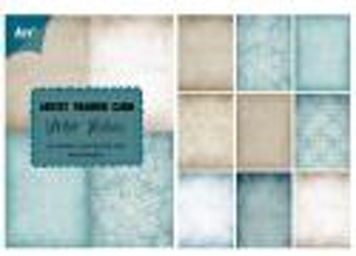 Papierblokje trading card, pocketletter/atc Winter wishes 85 x 60 mm 36 sheets 4 x 9 designs