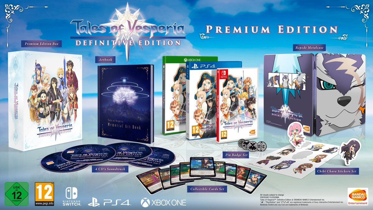 TALES OF VESPERIA: DEFINITIVE EDITION PREMIUM EDITION Switch