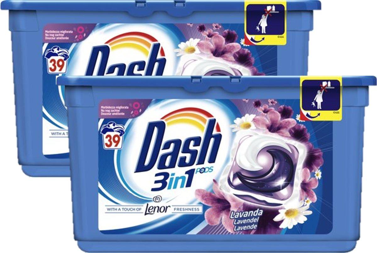 Dash - 3in1 - Lavendel -  2 x 39 capsules kopen