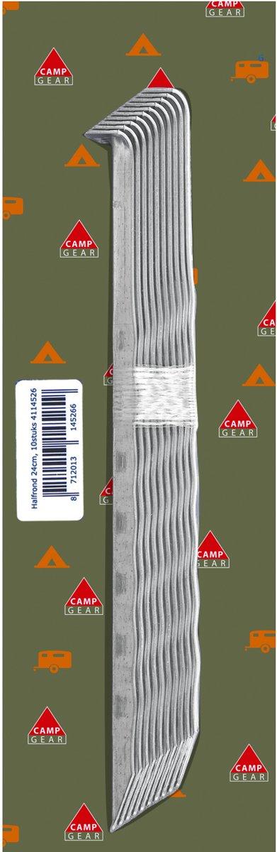 Camp-Gear - Haring - Halfrond - 10 Stuks x 24 cm - Gegalvaniseerd staal kopen