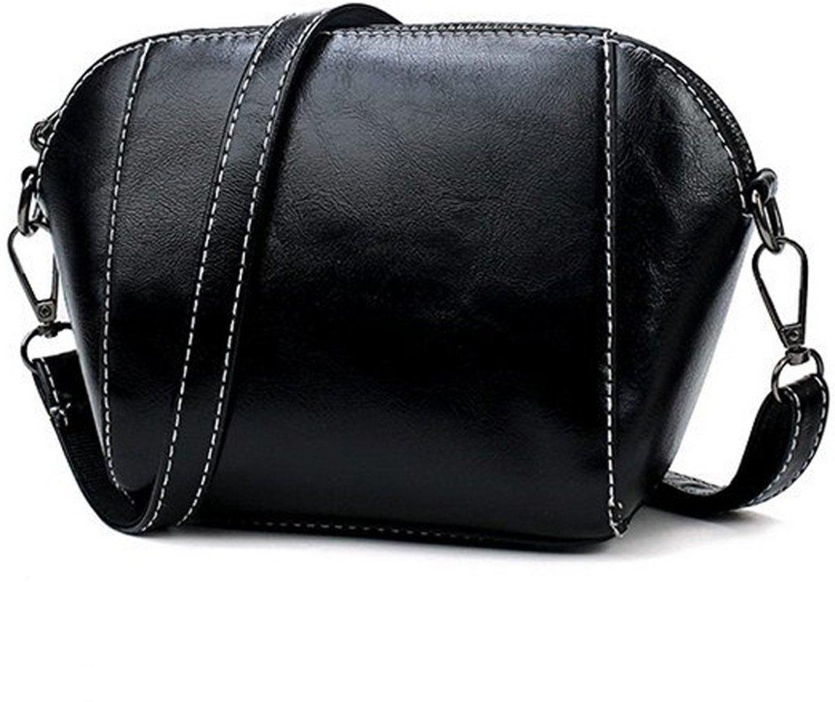 Let op type!! Leisure Fashion PU Leather Slant Shoulder Bag (Black) kopen
