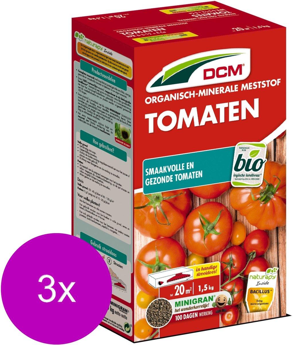 Dcm Meststof Tomaten - Moestuinmeststoffen - 3 x 20 m2 1.5 kg (Mg)