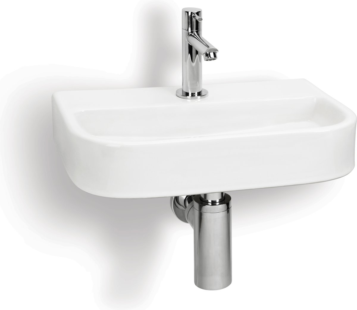 Differnz Ovale Small Fontein Toilet - Set - Fontein 38 x 24 cm inclusief fonteinkraan en sifon - Keramiek - Wit kopen