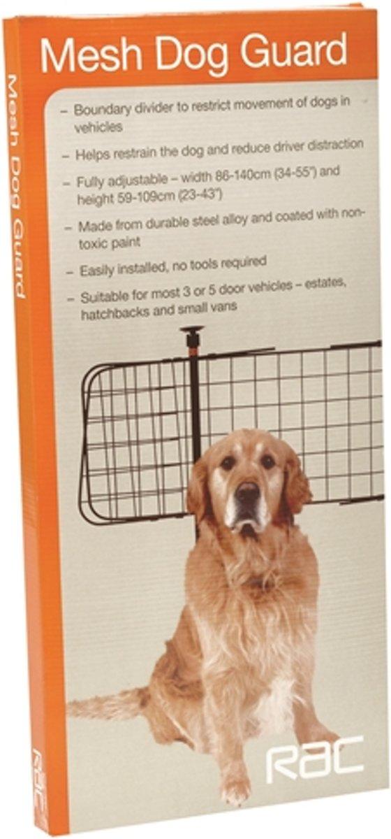 Rac Dog Guard Fijnmazig - Autorek hond - Zwart - 68x59 cm kopen