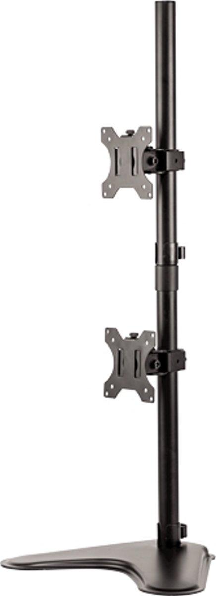 Fellowes Monitorarm - Tweevoudig - Verticaal -  8044001 flat panel bureau steun 81,3 cm (32'') Vrijstaand Zwart kopen