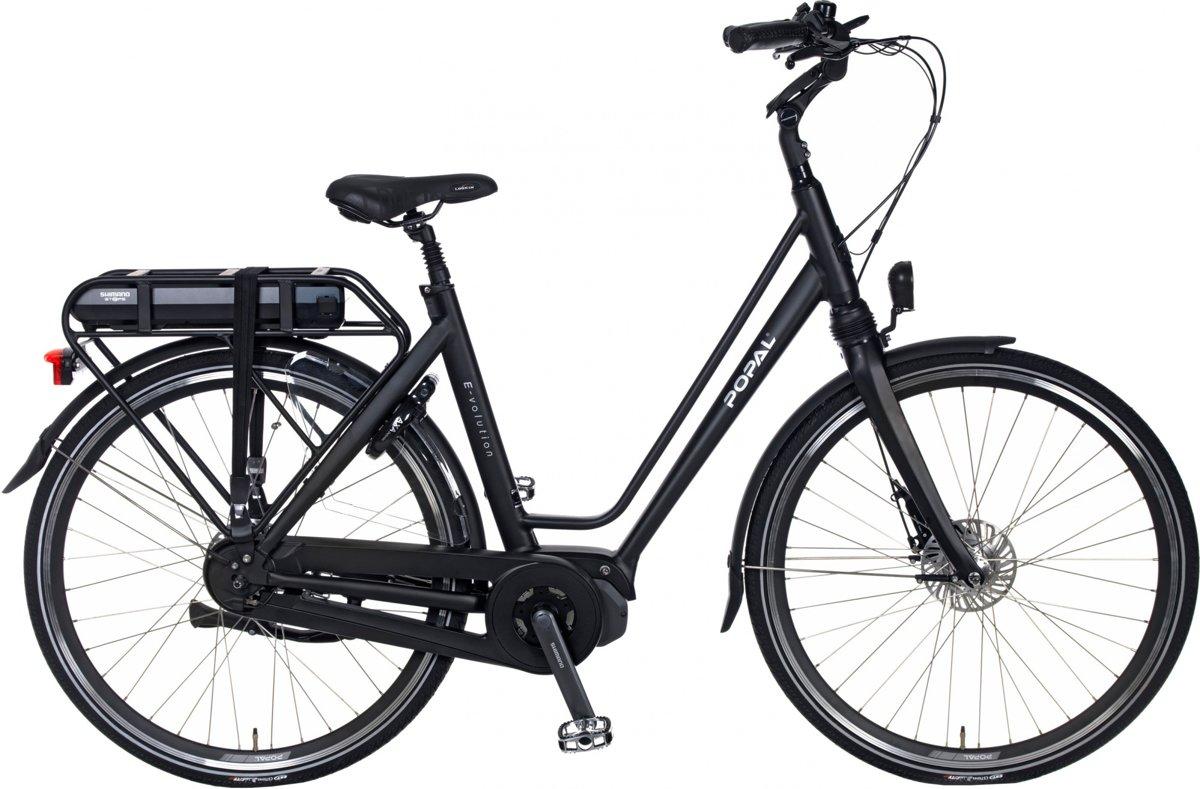 Popal E-Volution 11.0 - Elektrische fiets - E-bike - Shimano Middenmotor - 49 cm Mat Zwart