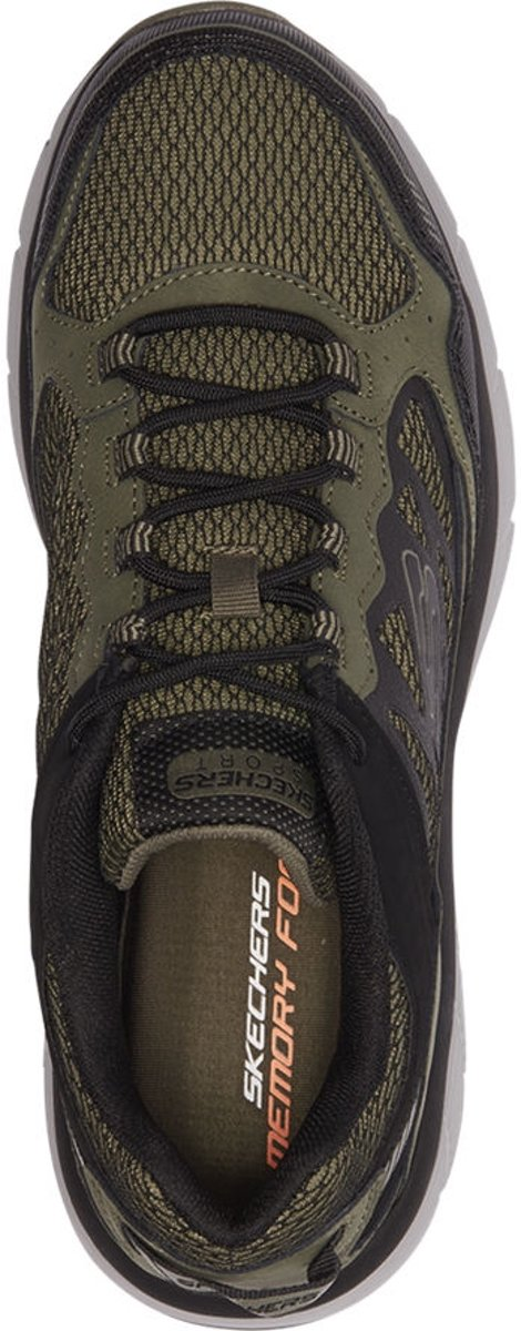 Skechers Heren Khaki lightweight sneaker memory foam Maat 45