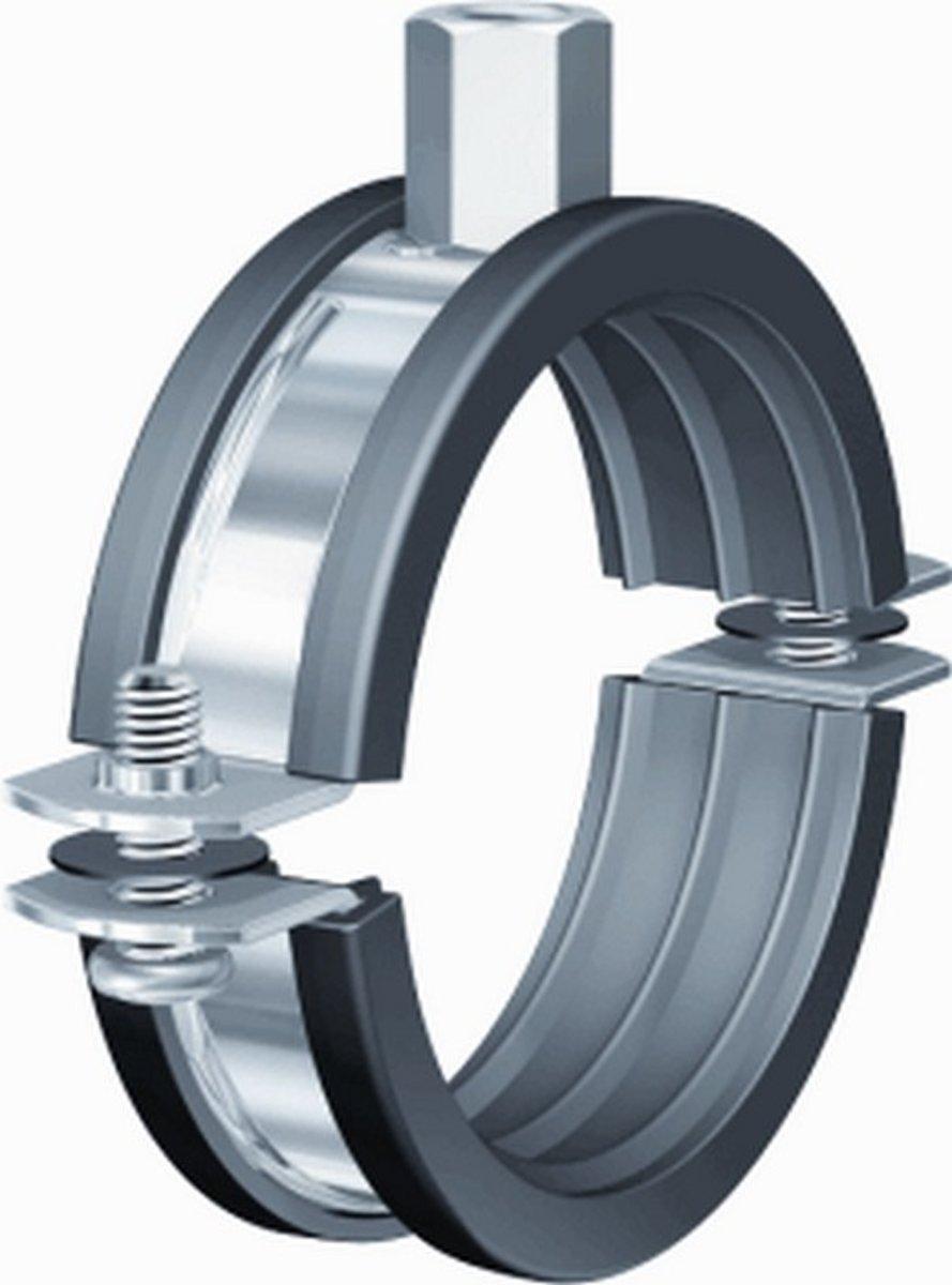 FLAM tweedelige beugel BSI, staal, blank, uitw buisdiam 121 - 127mm kopen