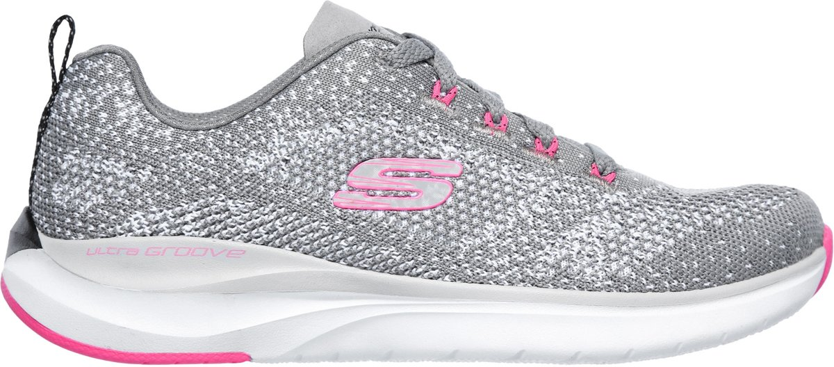 Skechers Ultra Groove Sneakers Maat 37 Vrouwen grijsroze