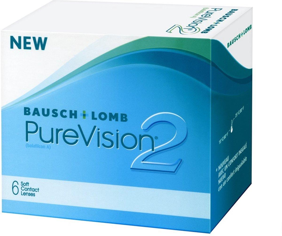 Foto van -0,25 PureVision 2 HD - 6 pack - Maandlenzen - Contactlenzen