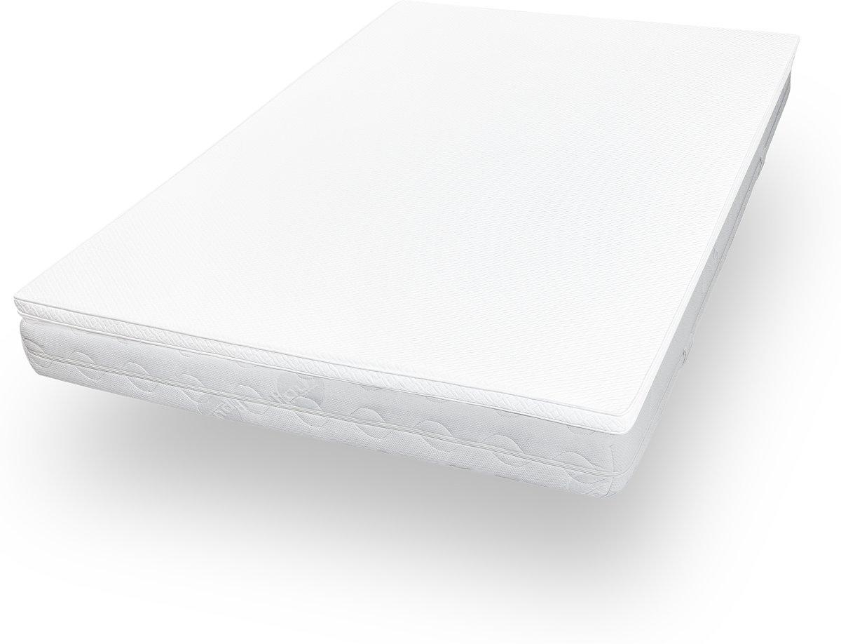 Lumaland - Matras topper - Comfort schuim - Visco elastisch orthopedisch topdekmatras - 140 x 200 cm + 3,5 cm