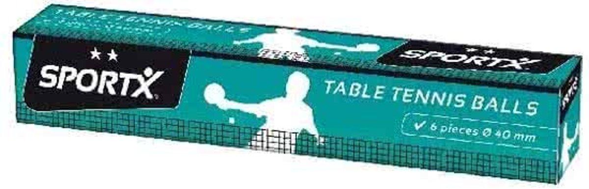SportX 6 Tafeltennisballen Ds.