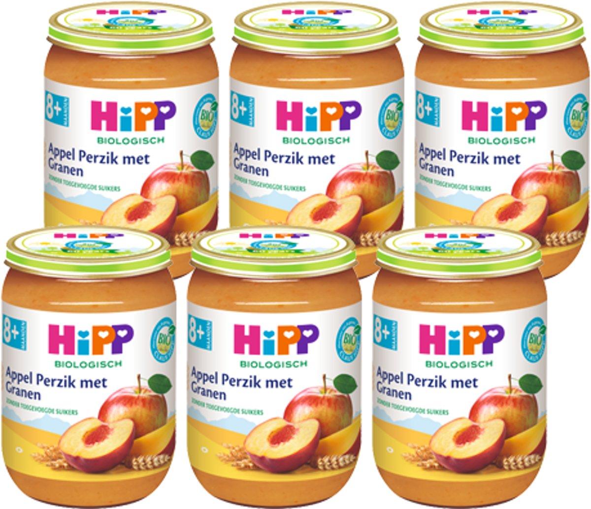HiPP Bio mlt.6 - Vruchtenmix Appel Perzik met Granen - 6 stuks 190gr kopen