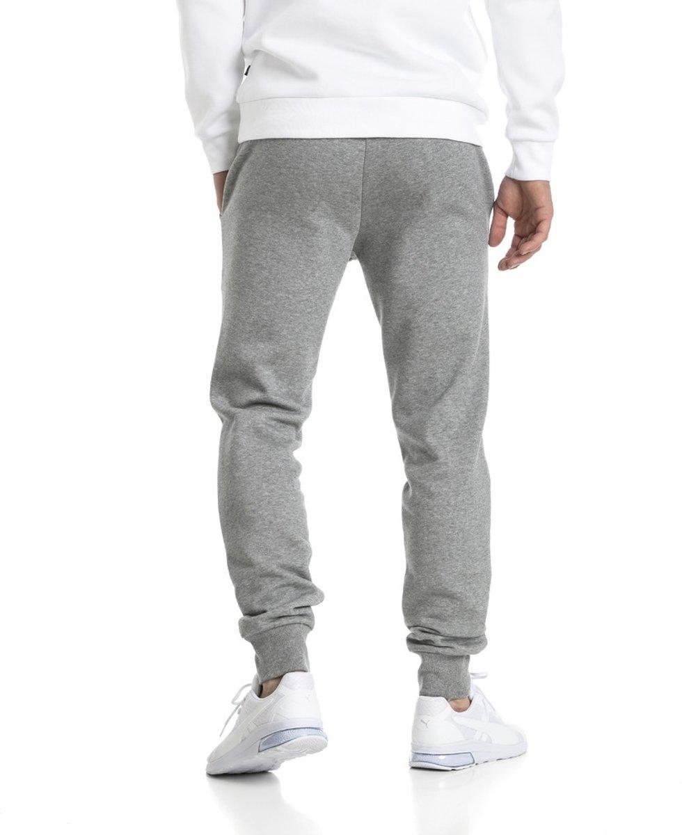 PUMA ESS Logo Pants FL cl Joggingbroek Heren Medium Gray Heather