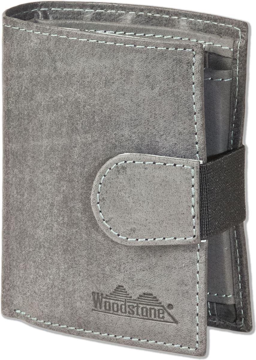 c0ccc15bd45 ... Woodstone - Leren Heren Portemonnee en Creditkaarthouder | Compact Model  |18 kaarthouders | Grijs ...