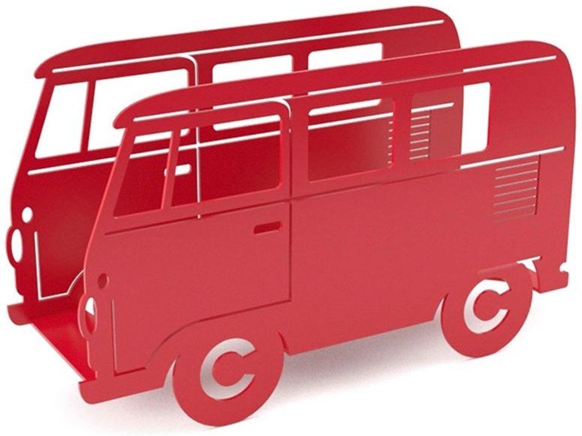Balvi tijdschriftenrek bus Van - Rood kopen
