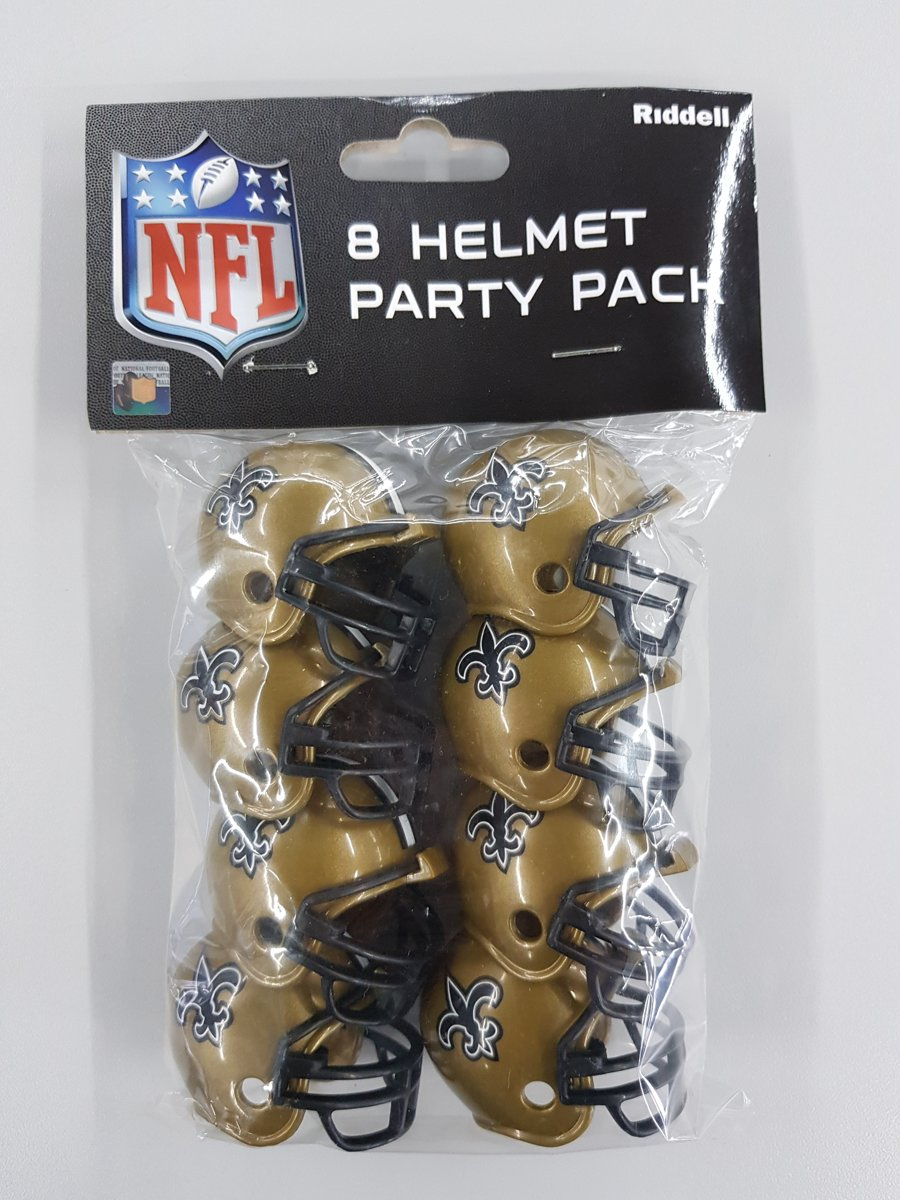 Riddell New Orleans Saints American Football Helm Party Pack