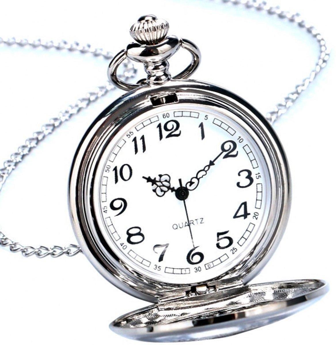 Ketting horloge zilver antique #45 kopen