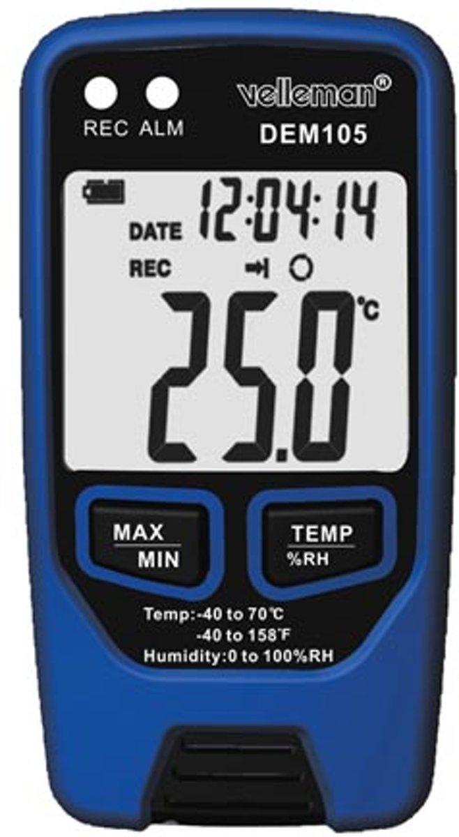Datalogger Voor Temperatuur En Vochtigheidsgraad Met Usb-Uitgang kopen