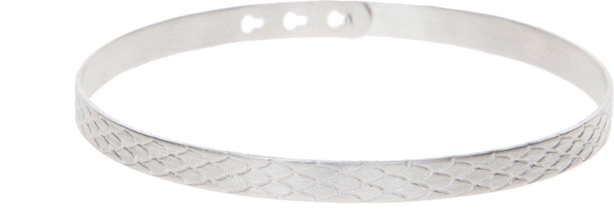 Lauren Sterk Amsterdam armband slangenprint - 925 zilver gerhodineerd - E-coating kopen