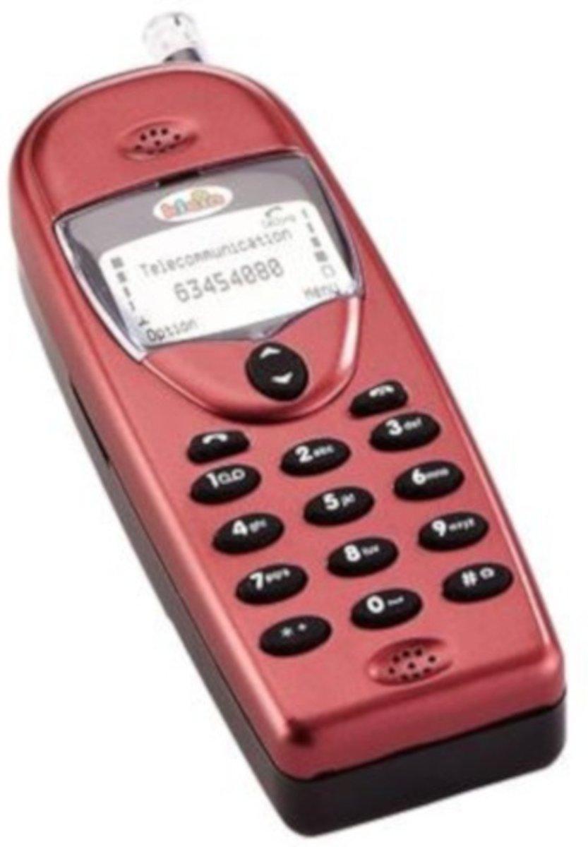 Klein Mobiele Telefoon Met Geluid 12 Cm Rood