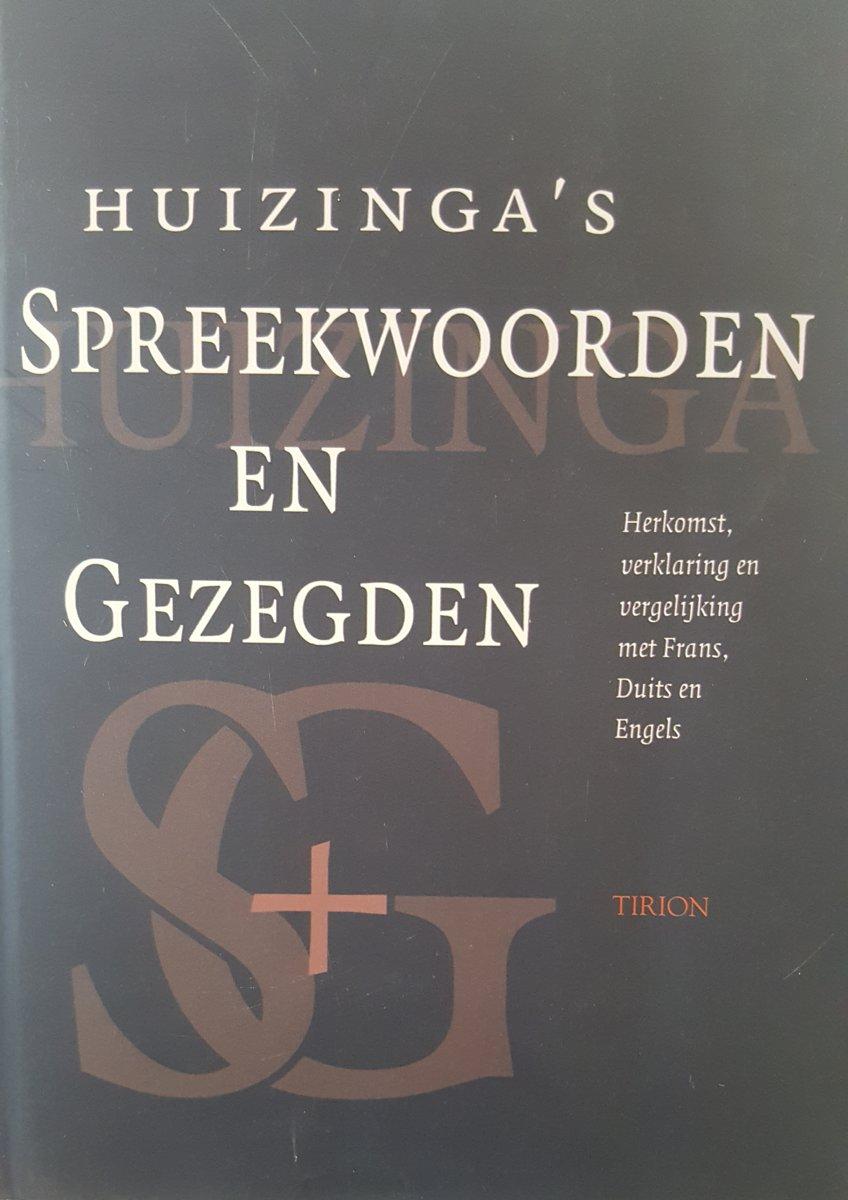 Bolcom Huizingas Spreekwoorden En Gezegden Huizinga