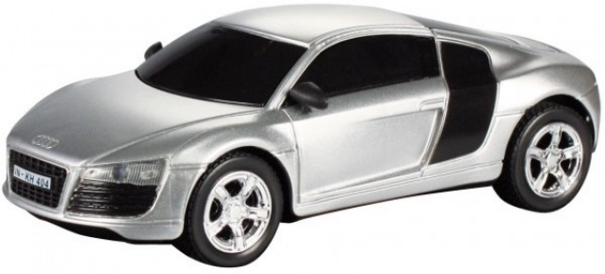 Cartronic Car Speed Racebaan Auto Audi R8 Zilver
