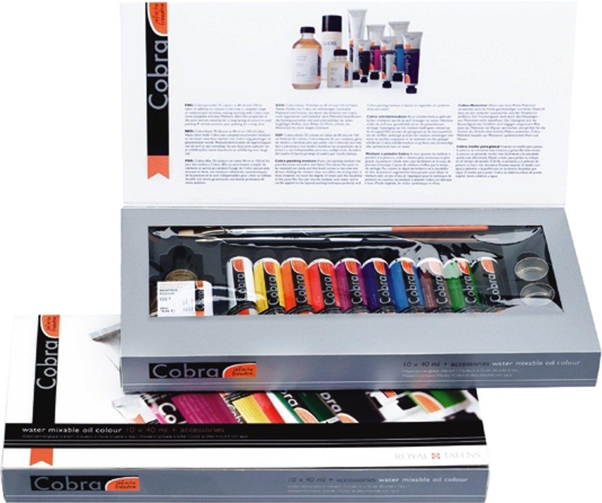 Cobra Artist olieverf 10 tubes 40ml met accessoires - oplosmiddelvrij - watervermengbaar kopen