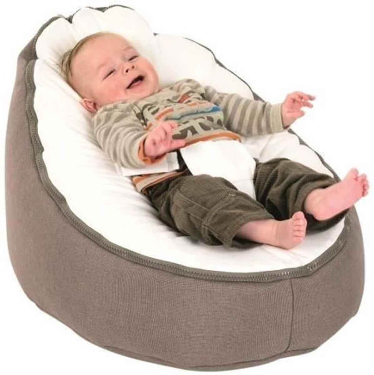 Doomoo Zitzak Lime.Doomoo Seat Baby Zitzak Original Taupe