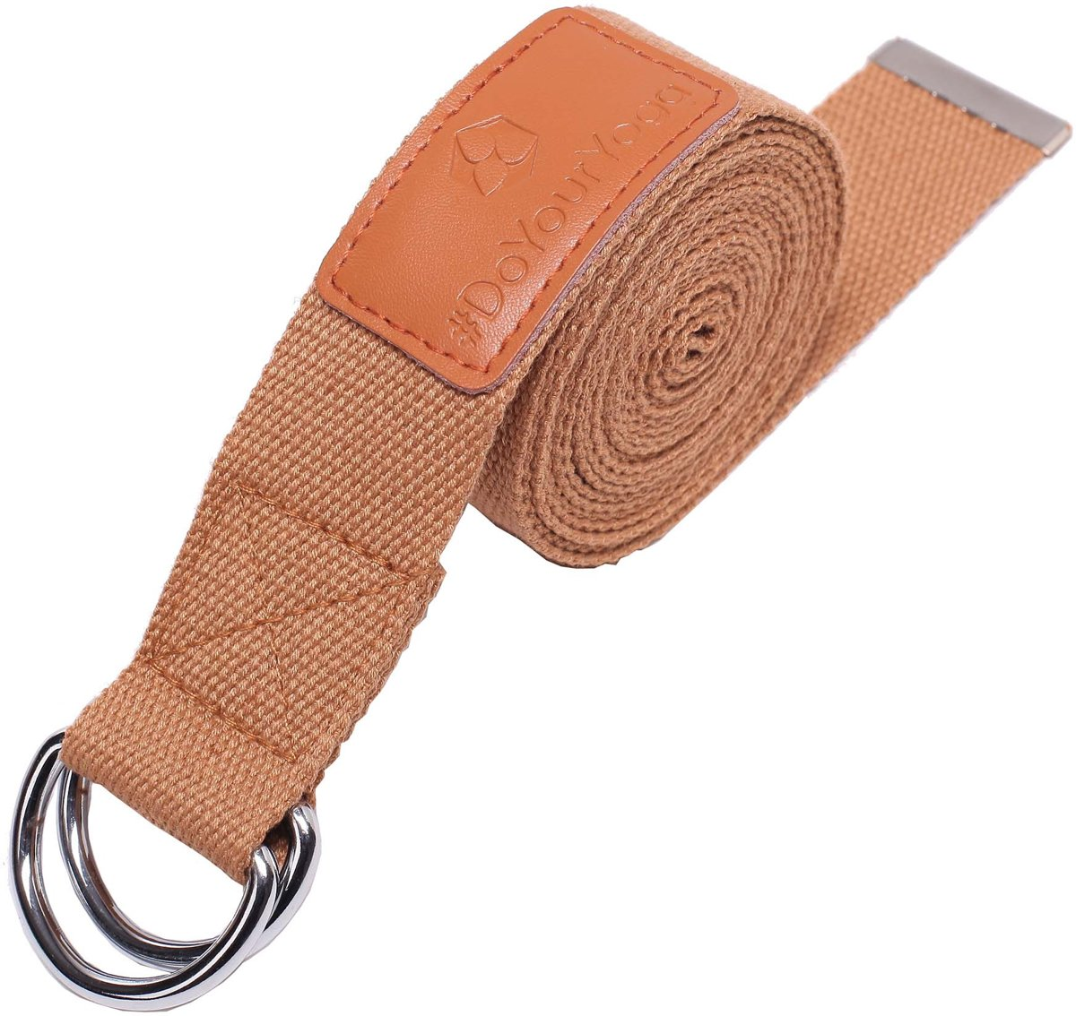 #DoYourYoga - Yogariem - »Mathadi« - 100% polyester met stabiele metalen ringsluiting - 300 x 3,8 cm - Huidskleur kopen