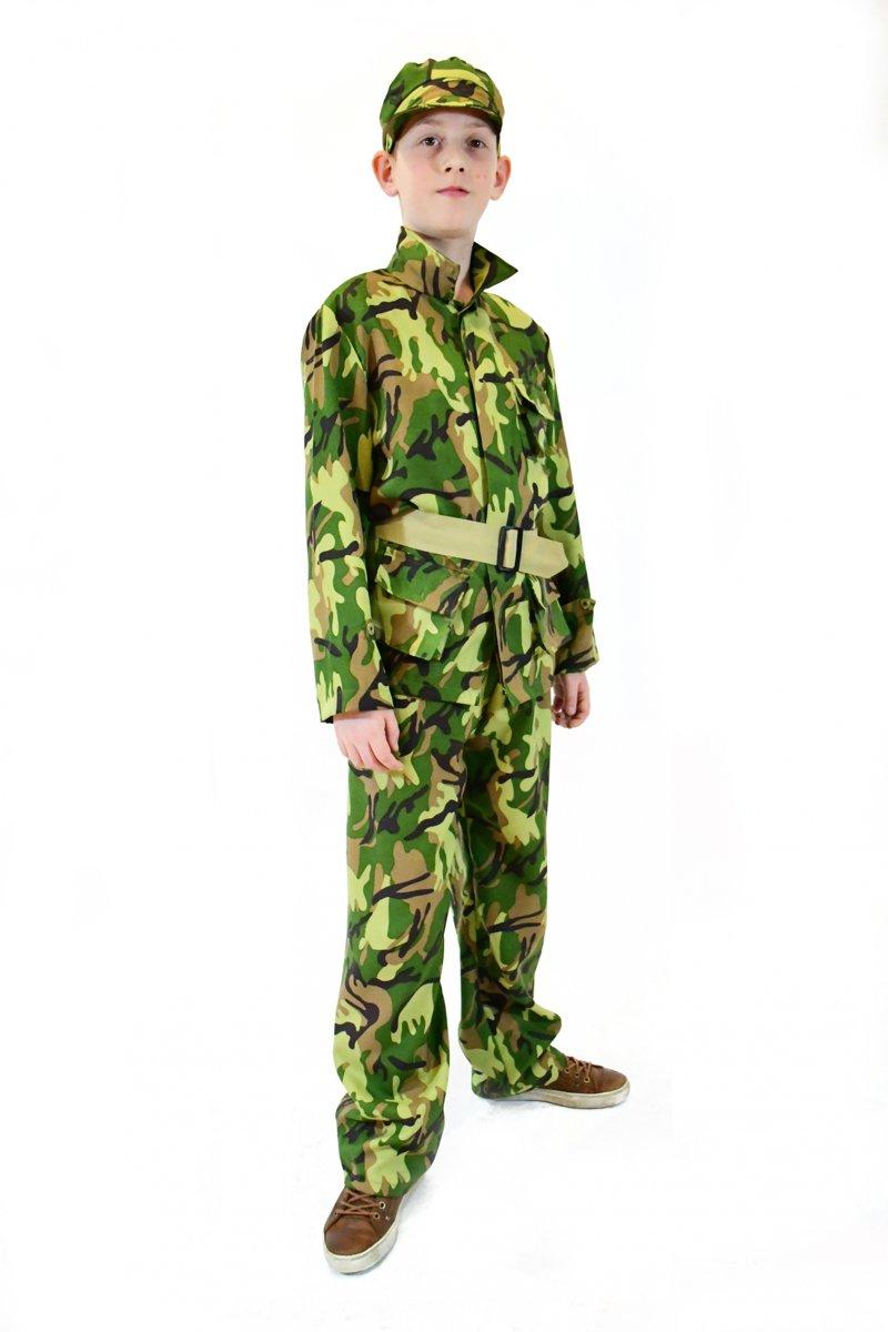 Afbeelding van product Rubie's Kostuum Soldaat Jongens Legergroen Maat 116
