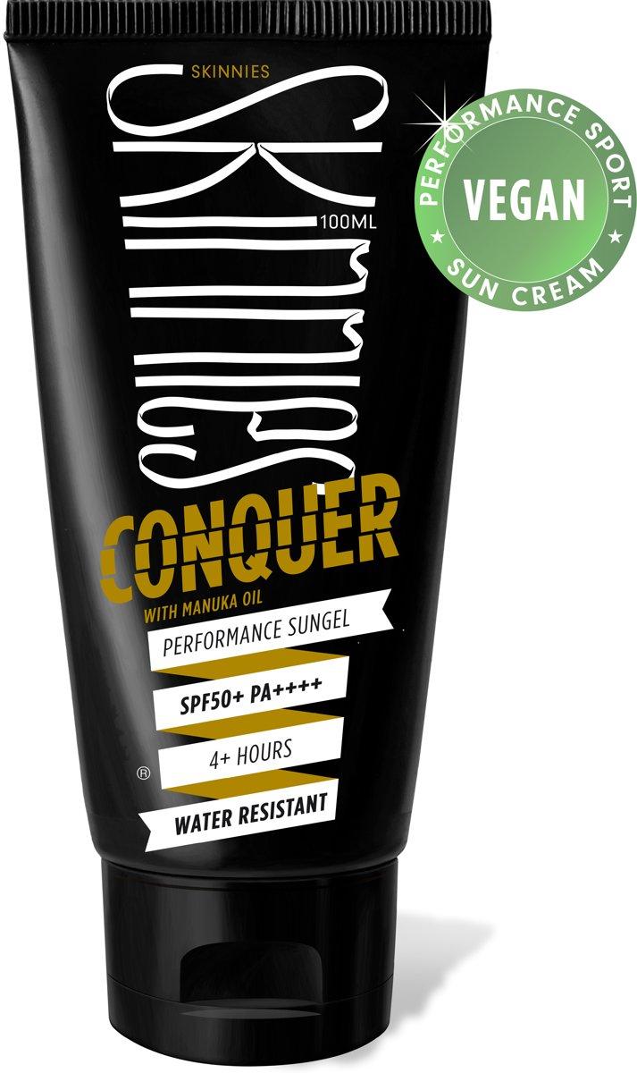 Zonnebrand Skinnies SPF50 100ml - Geschikt voor outdoorsporten - 4 uur waterbestendig - Parfumvrij - Parabenenvrij kopen