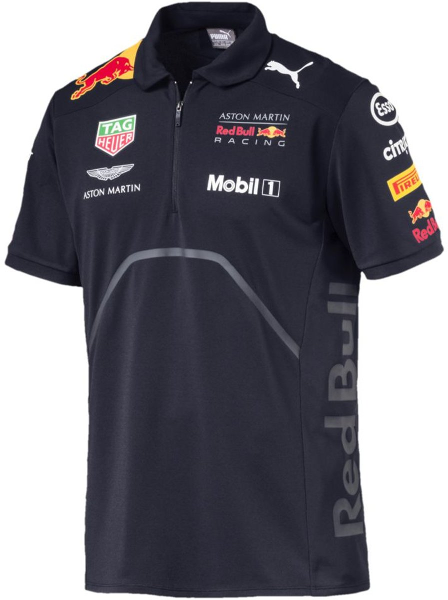 PUMA Aston Martin Red Bull Racing Team Polo Heren - Night Sky - L