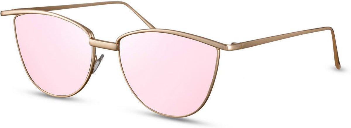 049cf2accbde3c Cheapass Zonnebrillen  moderne goedkope dames zonnebril met roze glazen  kopen