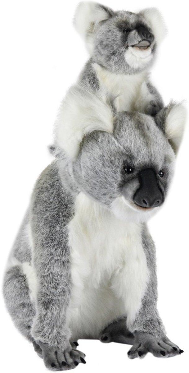 0ff8213816de76 Hansa pluche koala knuffel met baby 60 cm - HobbyEnSpeelgoed.nl