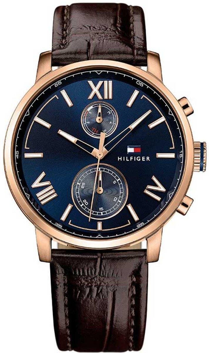 Tommy Hilfiger TH1791308 horloge heren bruin edelstaal PVD ros