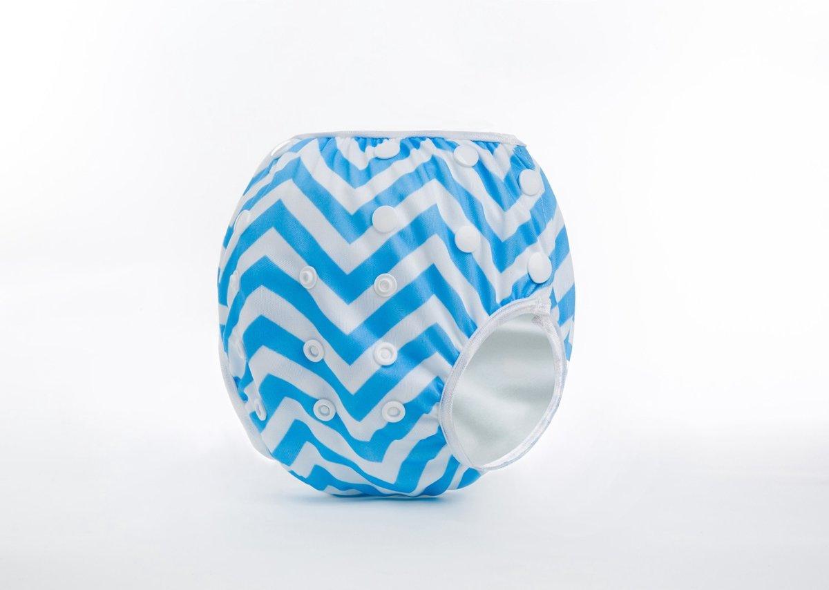 Zwemluier - Blauwe zigzagstreep