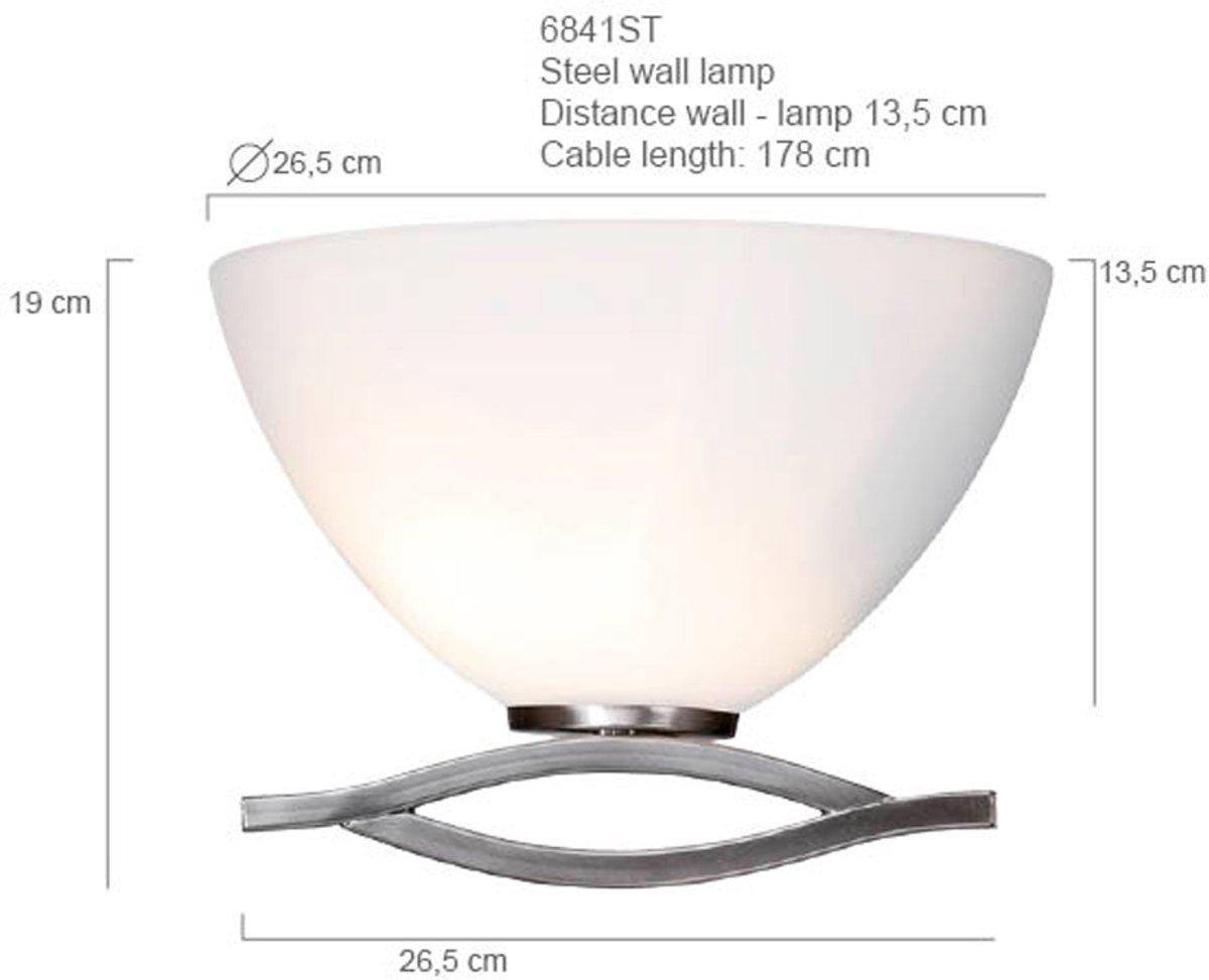 Steinhauer Lampen Onderdelen : Bol steinhauer capri wandlamp lichts staal wit