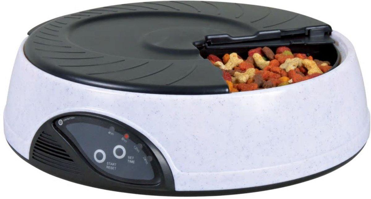 Trixie Le Bistro Voerautomaat - Grijs - 4 x 500 ml - 32 x 32 x 9 cm kopen