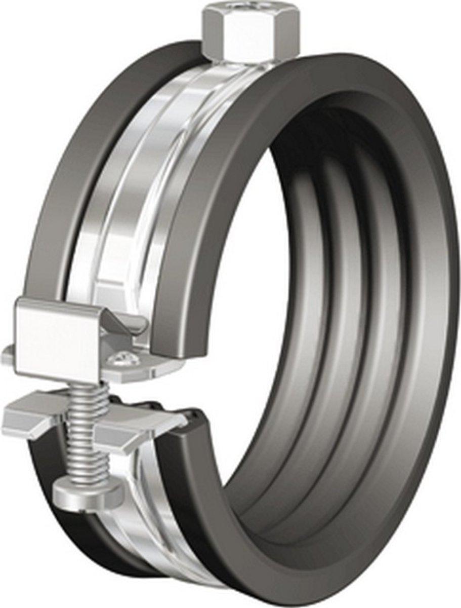 FLAM tweedelige beugel BSA, staal, blank, uitw buisdiam 133 - 141mm kopen