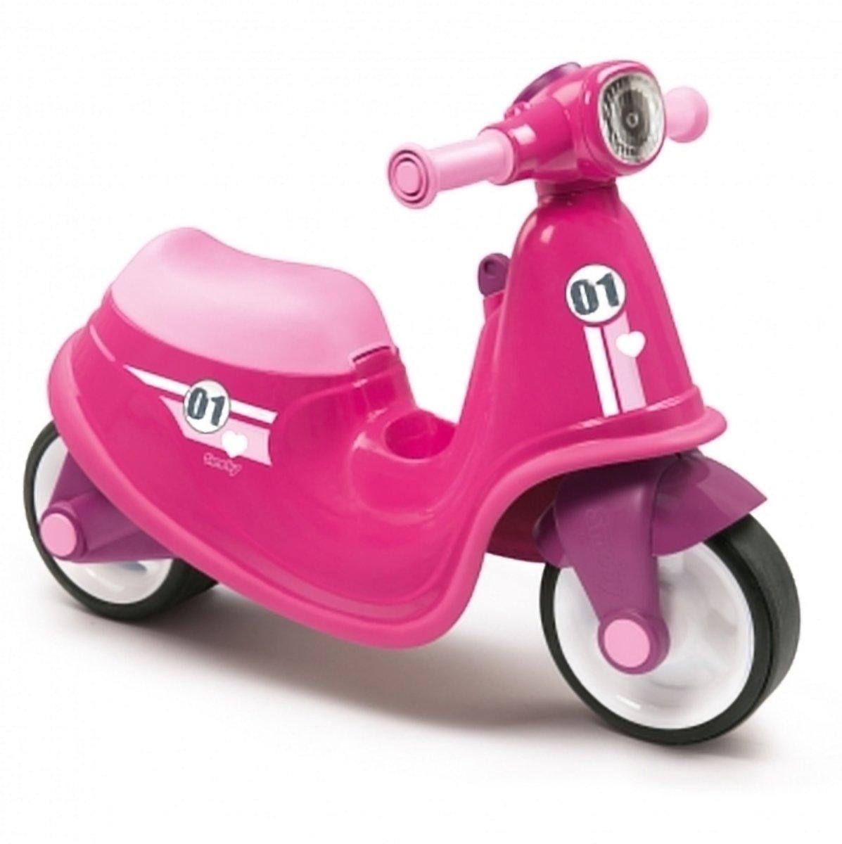 loopscooter kinderen - loop scooter - loopfiets - smoby roze scooter loop fiets