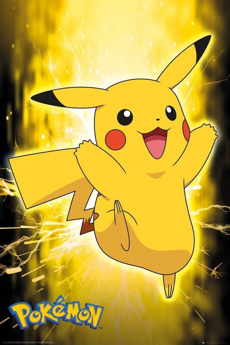 Pokémon Pokemon Poster Pikachu Neon 61 x 91 cm kopen